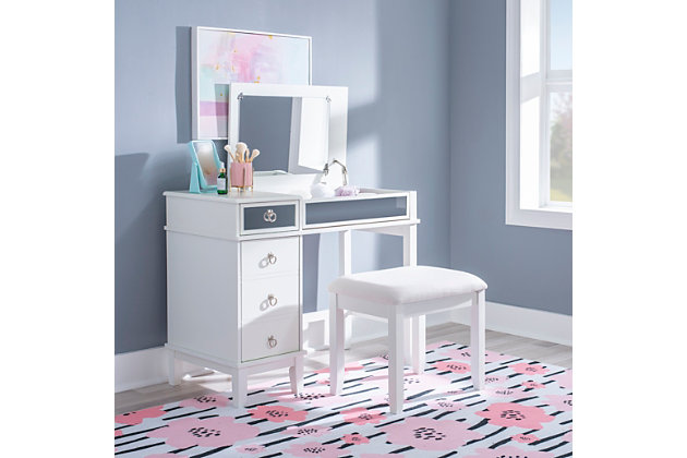 Eva Vanity Set, White, large