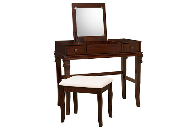 Contempo Vanity Set, Brown, large