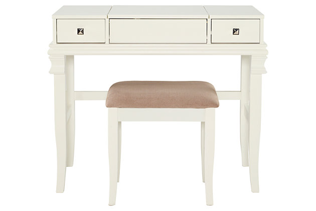 Contempo Vanity Set, White, large