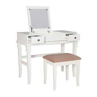 Contempo Vanity Set, White, large