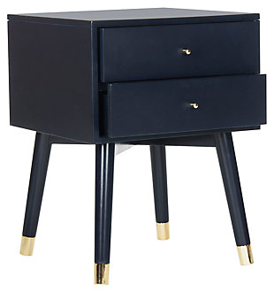 Lyla Mid Century Gold Cap Night Stand, , large
