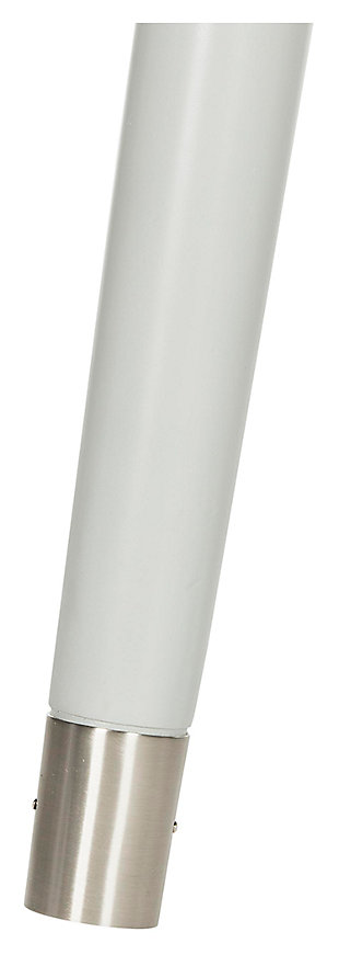 Lyla Mid Century Silver Cap Night Stand, , large