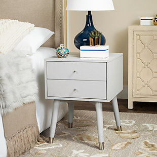 Lyla Mid Century Silver Cap Night Stand, , rollover