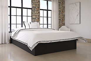 DHP Upholstered Queen Platform Bed, , rollover
