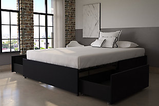 DHP Queen Platform Bed with Storage, , rollover