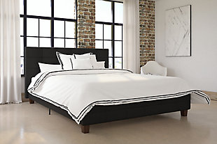 DHP Queen Upholstered Bed, , rollover