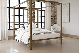 Modern Metal Canopy Queen Bed, , rollover