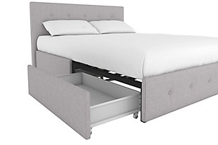 Tisa Upholstered Queen Bed with Storage, , large