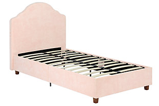Savvi Twin Upholstered Bed, Pink, rollover