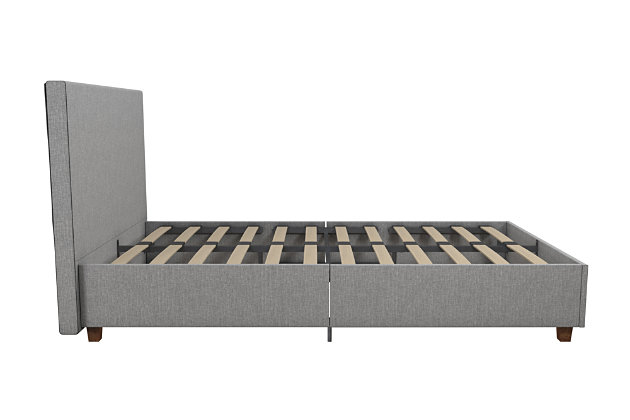 Alexi Twin Upholstered Bed, Gray, large