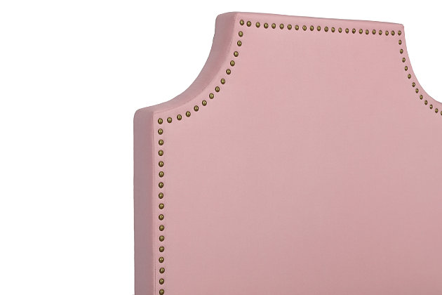 Melita Twin Upholstered Bed, Pink, large