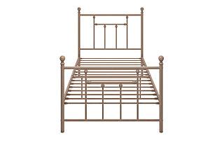 Mani Twin Metal Bed, Pink, large