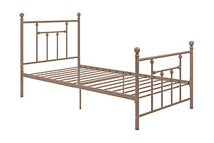 Mani Twin Metal Bed, , rollover