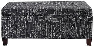 Linon Shoe Storage Ottoman, , rollover