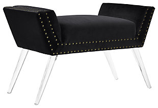 Elsye Vanity Acrylic Leg Bench, , large