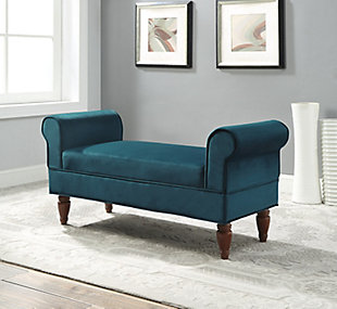 Adair Velvet Bench, , rollover