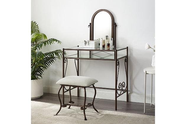 Leah Metal Vanity Set, , large