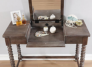 Linon Spindle Vanity Set, , large