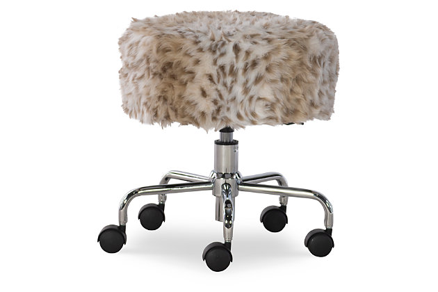 Linon Rolling Stool, , large