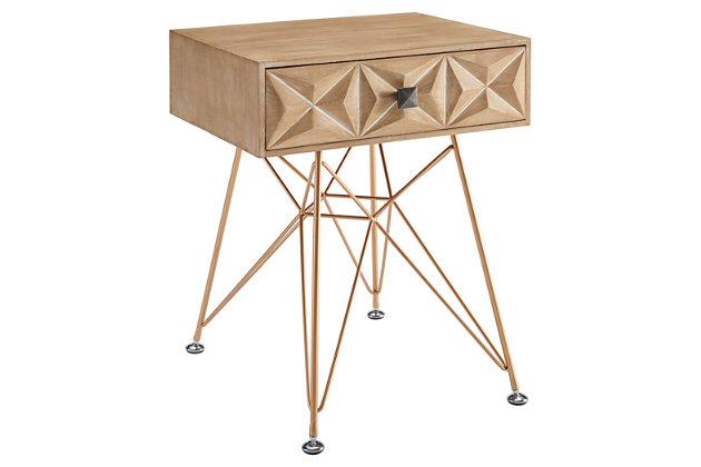 Flinnter One Drawer Nightstand, , large
