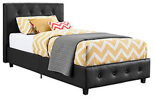 Dakota Twin Upholstered Bed, , large