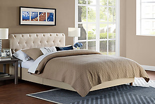 Carmela Full Upholstered Bed, , rollover