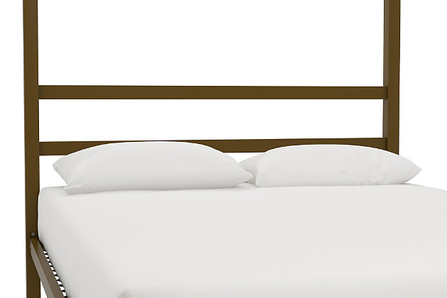 Modern Metal Canopy Full Bed, Gold Finish, large