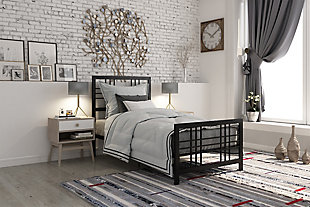 Burbank Metal Twin Bed, Black, rollover