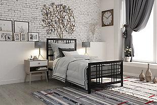 Burbank Metal Twin Bed, Black, rollover