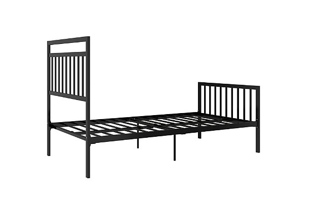 Jackson Modern Twin Metal Bed, Black, large