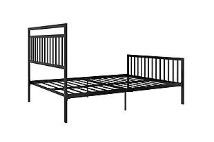 Jackson Modern Full Metal Bed, Black, large
