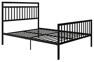 Jackson Modern Full Metal Bed, Black, large