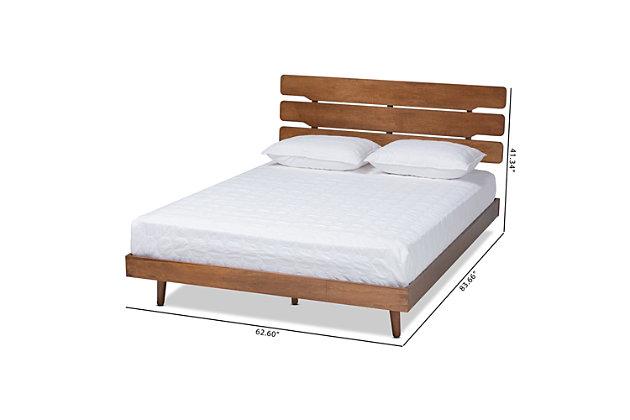 Anzia Mid Century Wood Queen Platform Bed Ashley Furniture Homestore