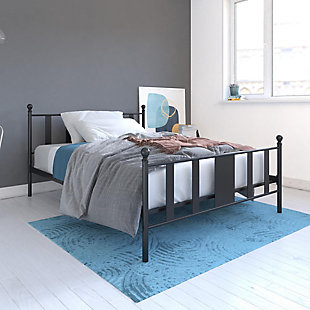 Langham Metal Full Bed, Black, rollover