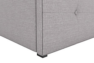 Rose Twin Upholstered Bed with Storage, Gray, large