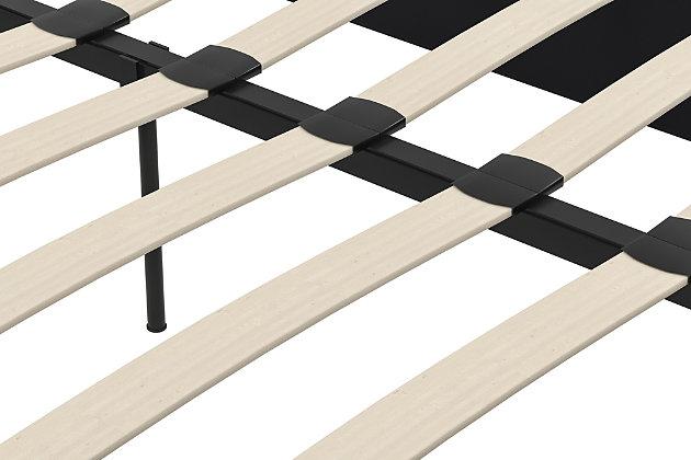 Maven Full Upholstered Platform Bed, Black, large
