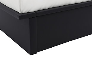 Maven Twin Upholstered Platform Bed, Black, large