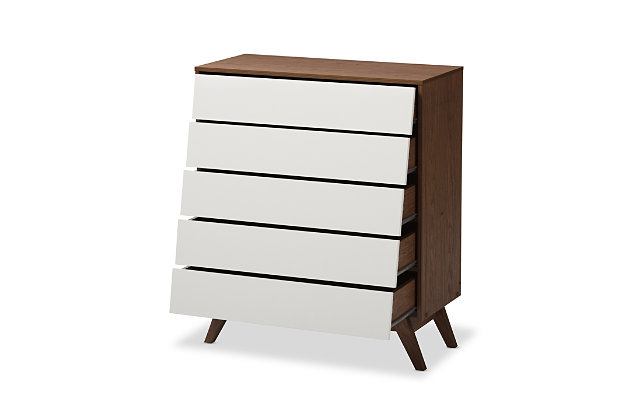 Hildon Wood 5-Drawer Storage Chest, , large