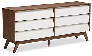 Hildon Wood 6-Drawer Storage Dresser, , large