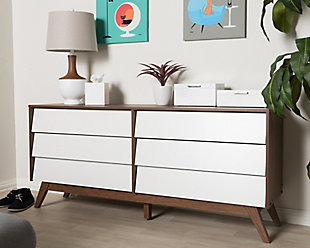 Hildon Wood 6-Drawer Storage Dresser, , rollover