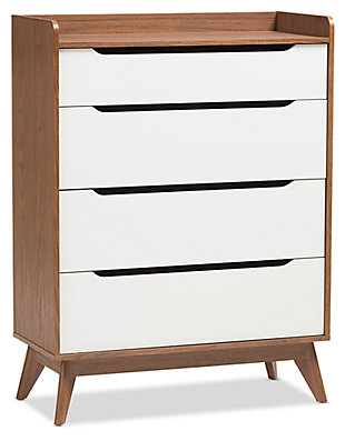 4 Drawer Wood Storage Chest, , large