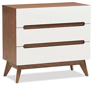 3 Drawer Wood Storage Chest, , large