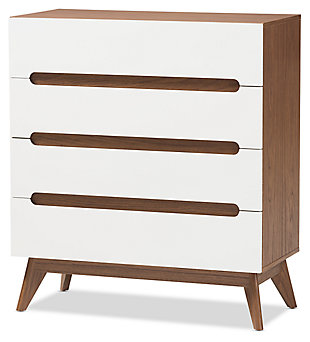 5 Drawer Wood Storage Chest, , large
