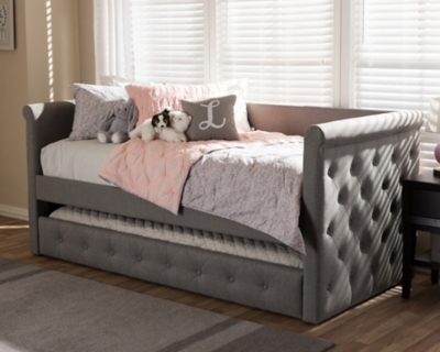 Button Tufted Day Bed With Trundle Ashley Furniture Homestore