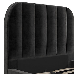 DHP Atwater Living Carly Twin Upholstered Bed, Black, large