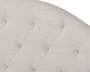 Curved Upholstered Queen Day Bed with Trundle, Beige, large