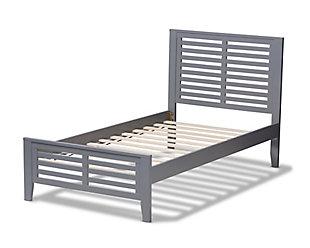 Sedona Twin Platform Bed, Gray, large