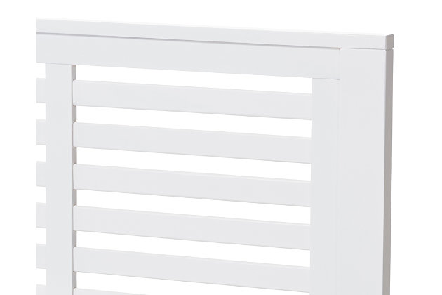 Sedona Wood Twin Platform Bed, White, large