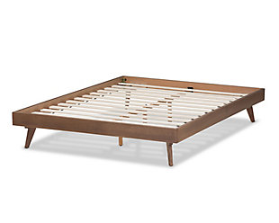 Wood Queen Bed Frame, Walnut, large