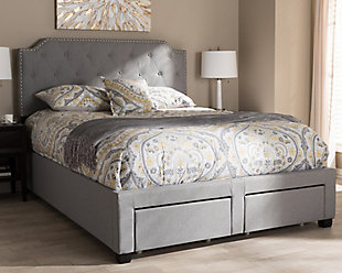 Aubrianne Queen Upholstered Bed, Gray, rollover